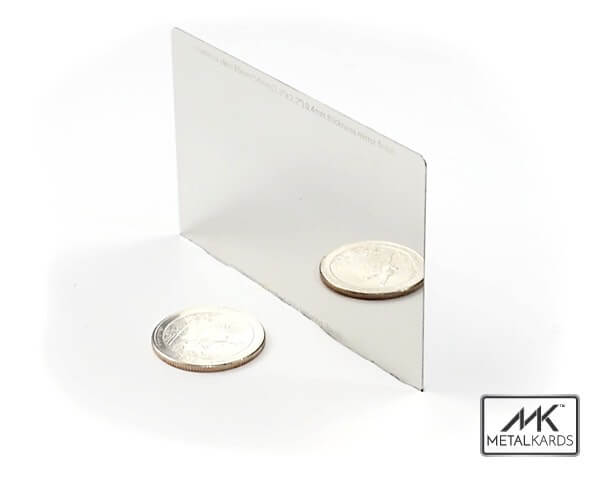 Polished chrome metal business cards only metalkards polished chrome metal business cards colourmoves