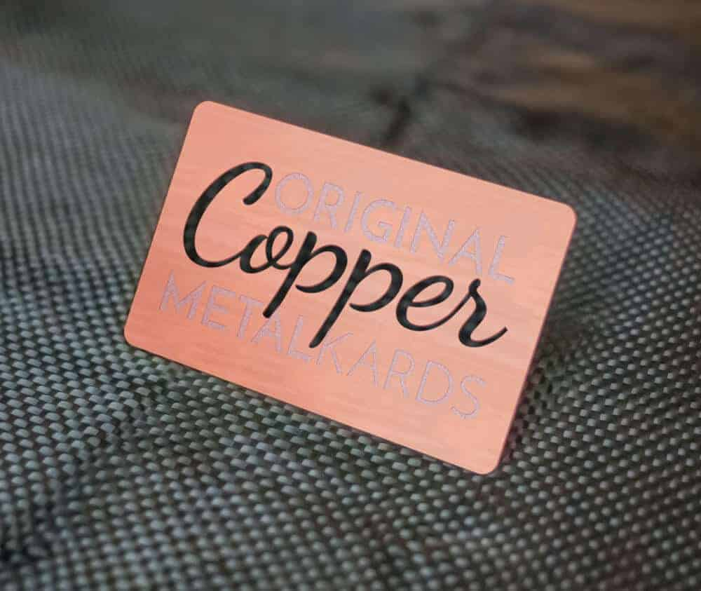 Copper Business Cards in Genuine Stainless Steel - www.MetalKards.com