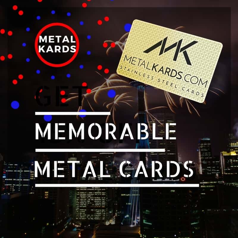 Memorable Business Cards - nobody forgets a metalkards.com card