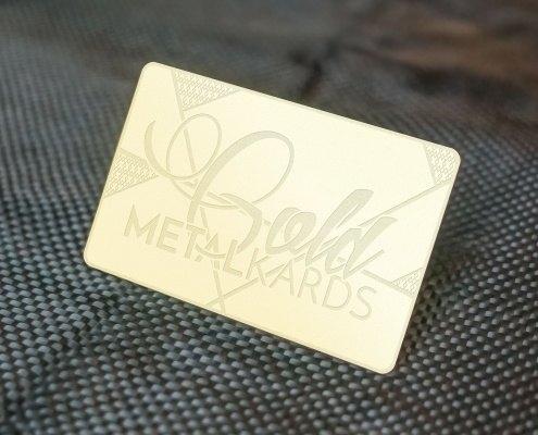 Gold Metal Card