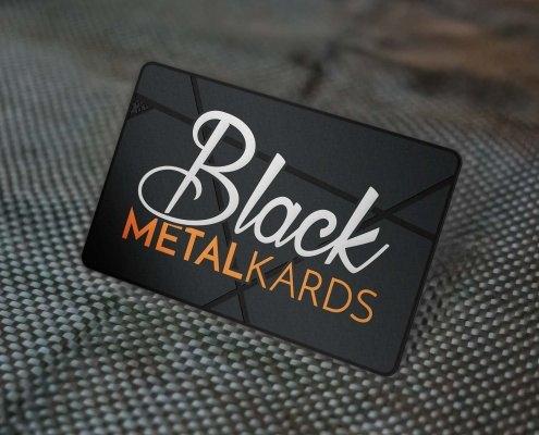 Black Metal Biz Cards